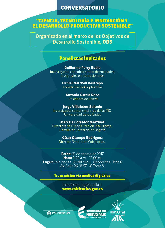 Conversatorio «Ciencia, Tecnología e Innovación y el Desarrollo Productivo Sostenible»