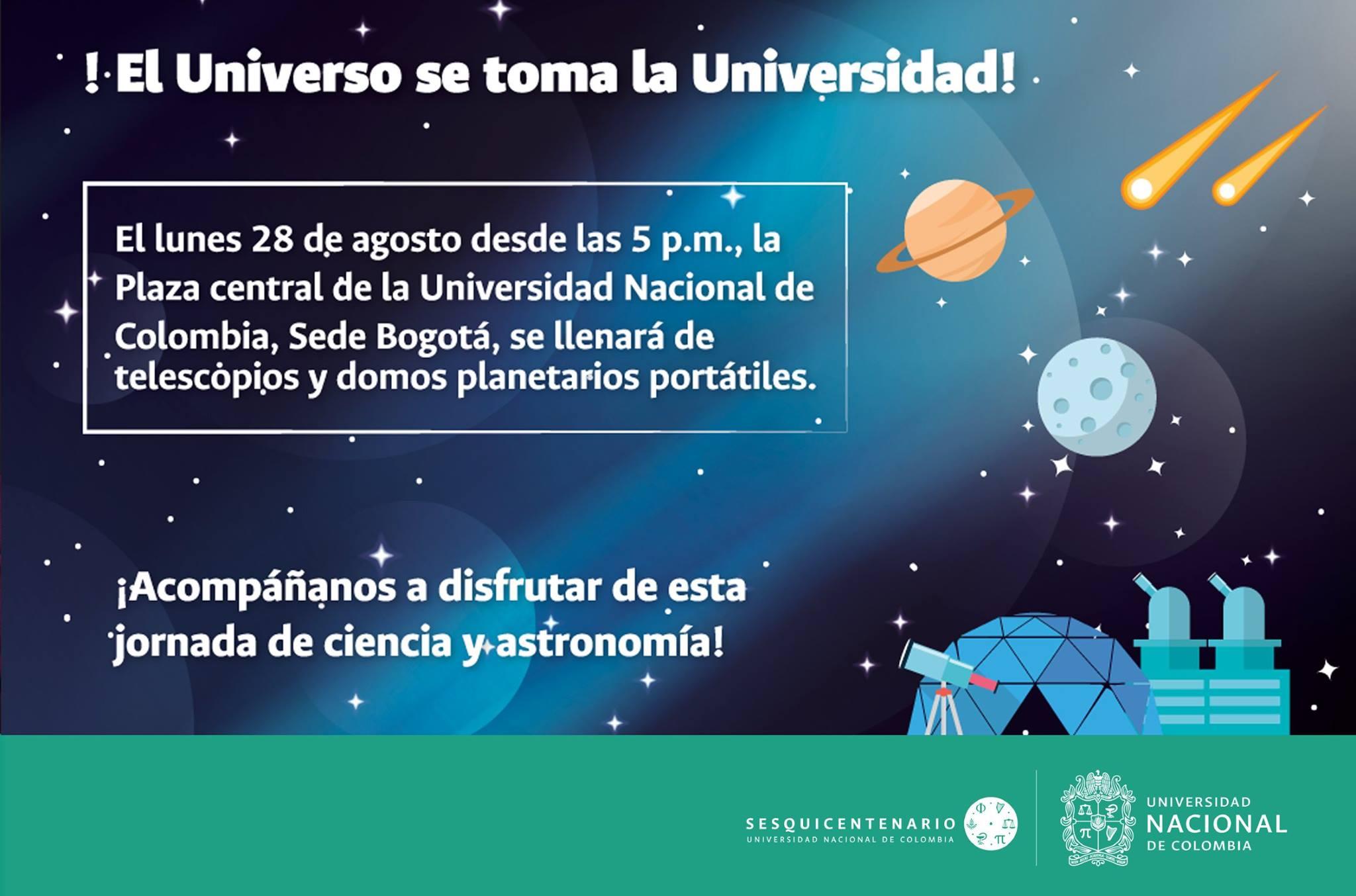 Encuentro de ciencia y astronomía «¡El Universo se toma la Universidad!»