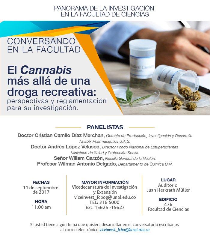[Conversando en la Facultad de Ciencias] «El cannabis más allá de una droga recreativa: perspectivas y reglamentación para su investigación»