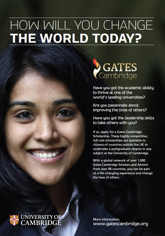Gates Cambridge Scholarship 2018