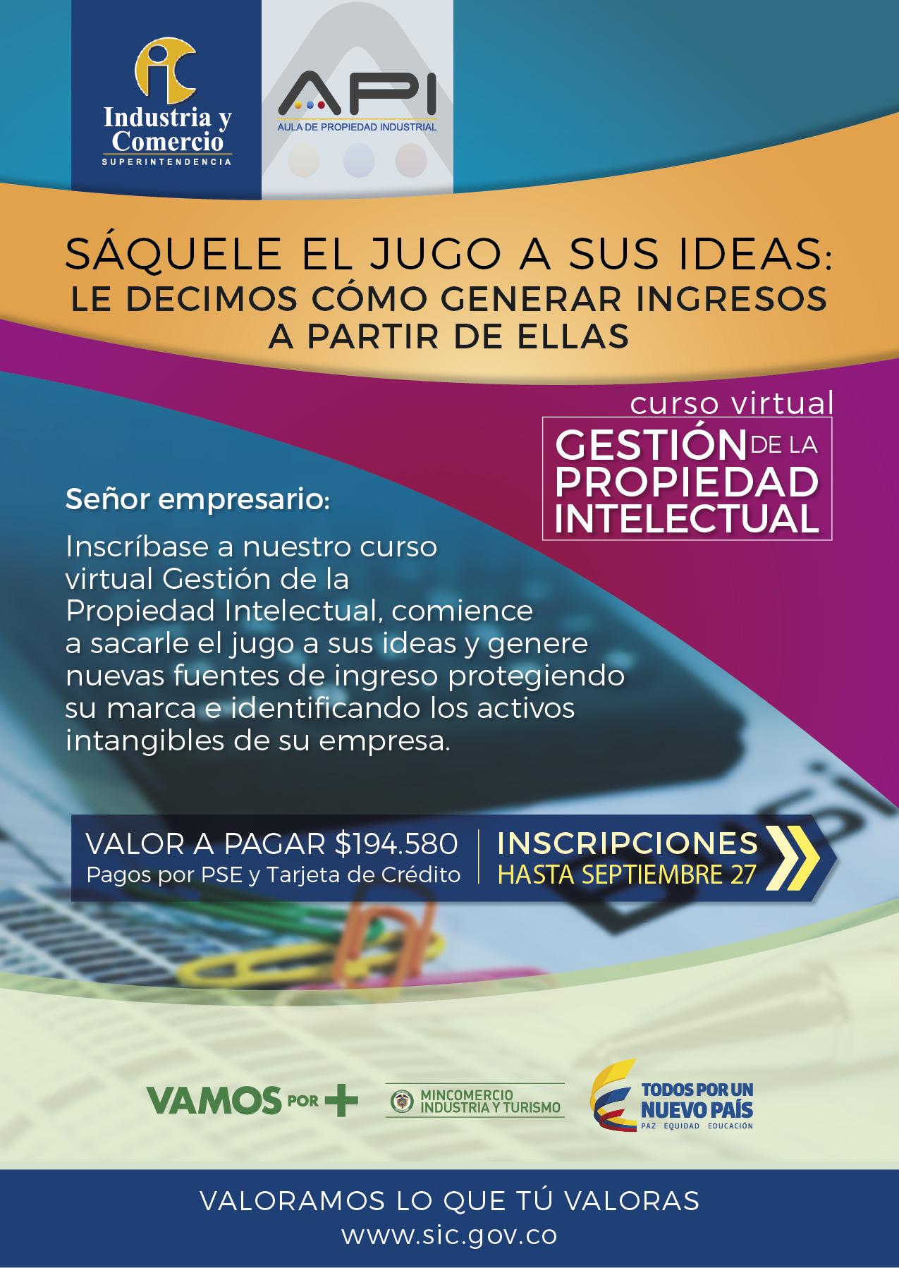 Curso virtual «Gestión de la propiedad intelectual» (2017)