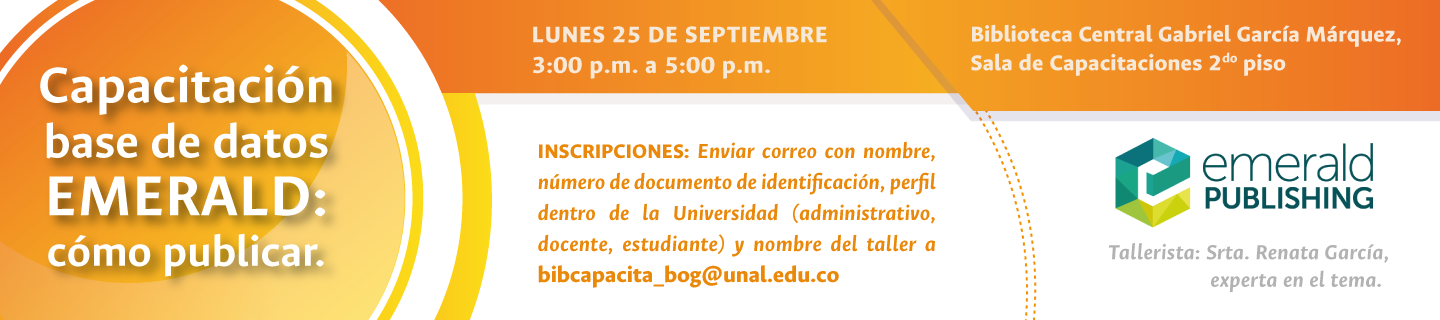 Invitación capacitación base de datos Emerald                   Group Publishing