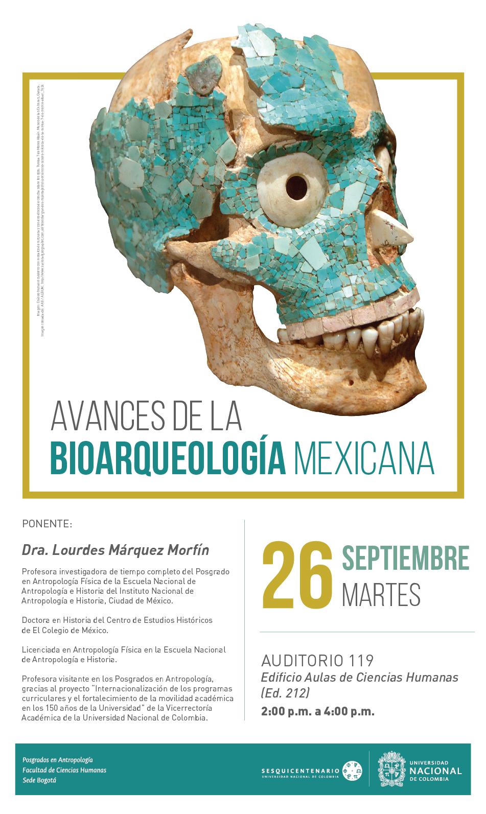 Conferencia «Avances de la bioarqueología mexicana»