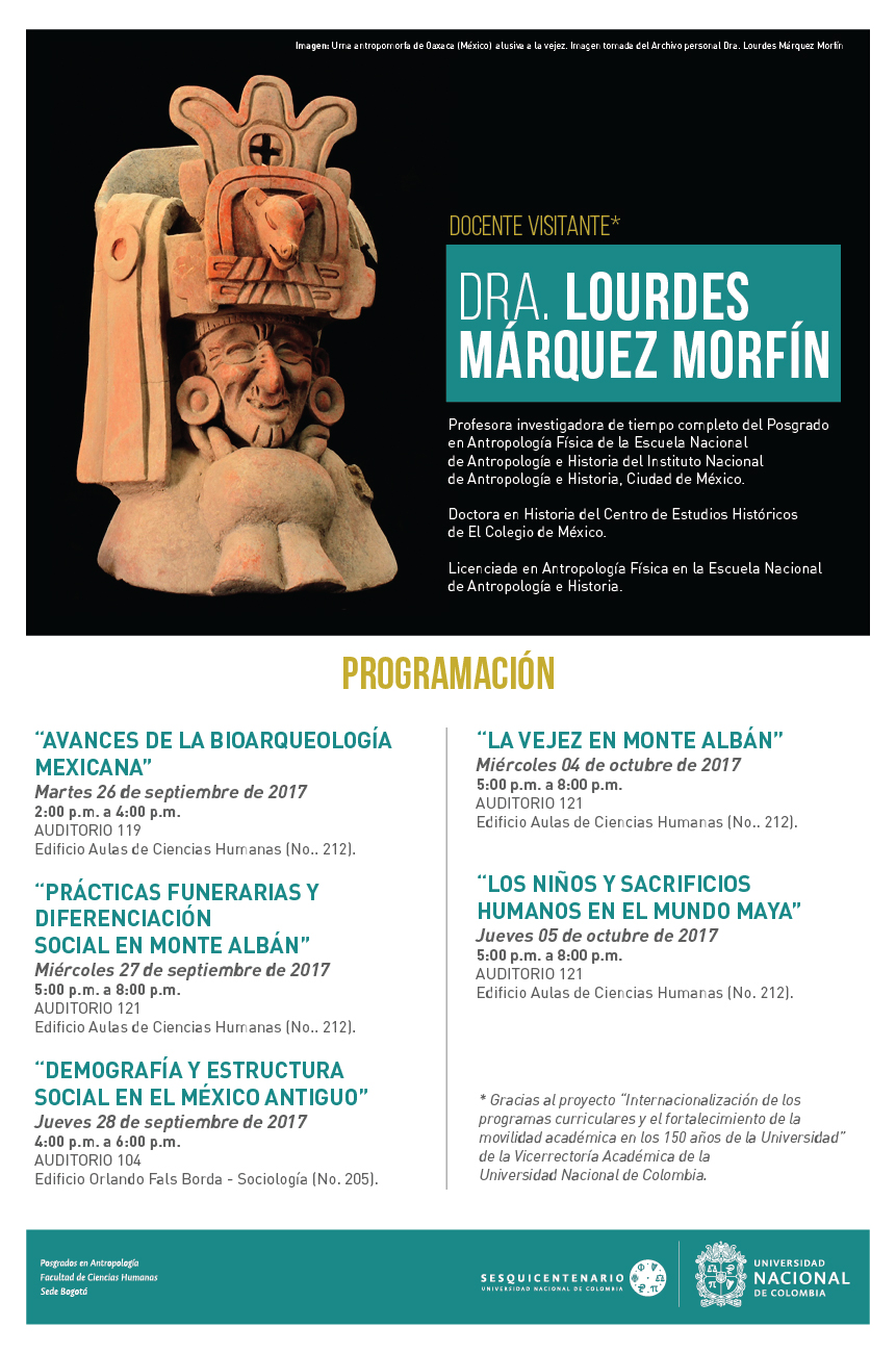 Visita de la doctora Lourdes Márquez Morfín a la U. N.