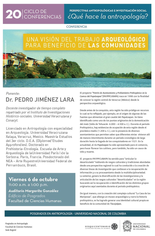 Conferencia «Una visión del trabajo arqueológico para beneficio de las comunidades»
