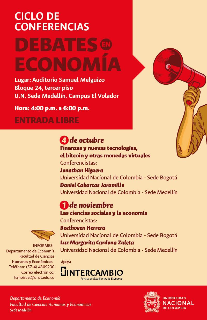 [Ciclo de conferencias «Debates en Economía»] «Finanzas y nuevas tecnologías, el bitcoin y otras monedas virtuales»