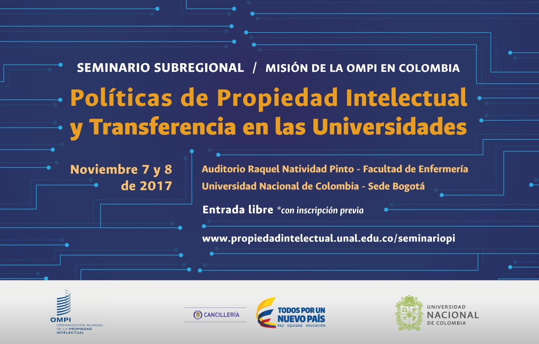Seminario Subregional «Políticas de propiedad intelectual y transferencia de tecnología en las universidades»