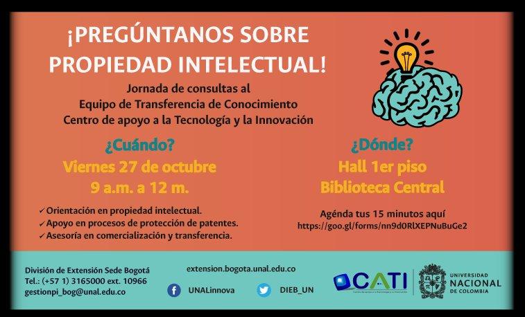 Jornada de consultas sobre propiedad intelectual (sede Bogotá)
