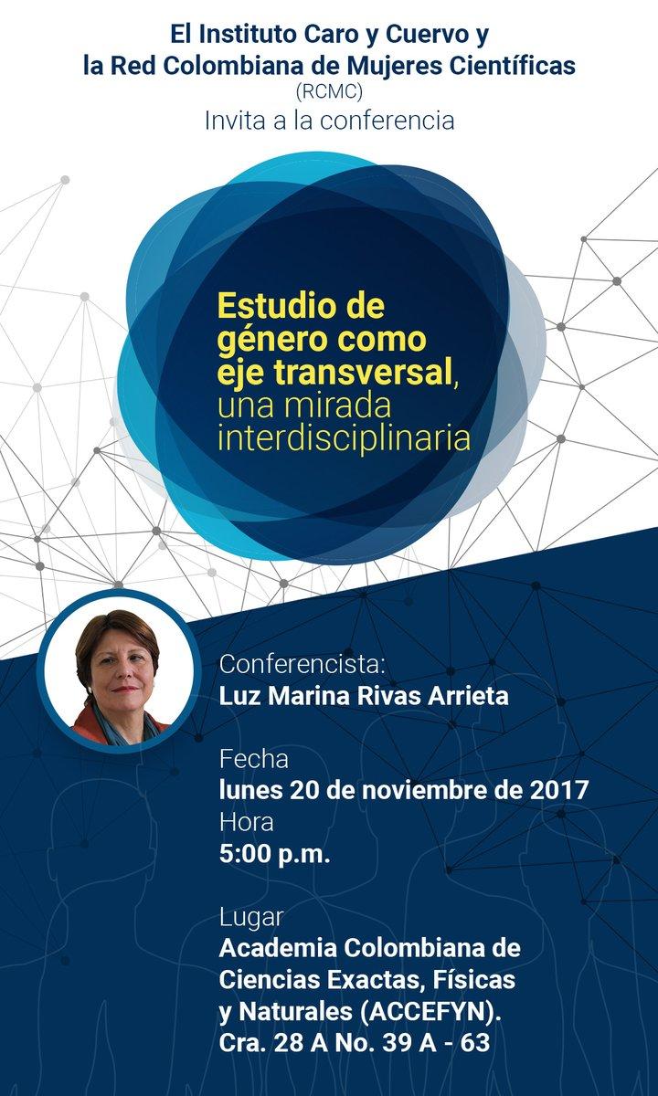 Conferencia «Estudio de género como eje transversal, una mirada interdisciplinaria» (Luz Marina Rivas Arrieta)