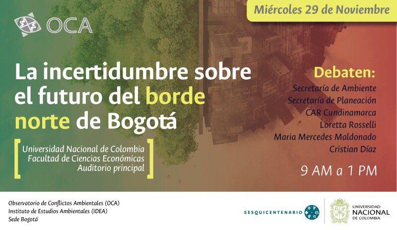 #DebateBordeNorte «La incertidumbre sobre el futuro del borde norte de Bogotá»