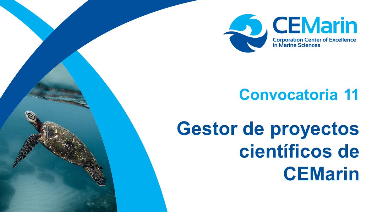 Convocatoria para gestor de proyectos científicos (CEMarin)