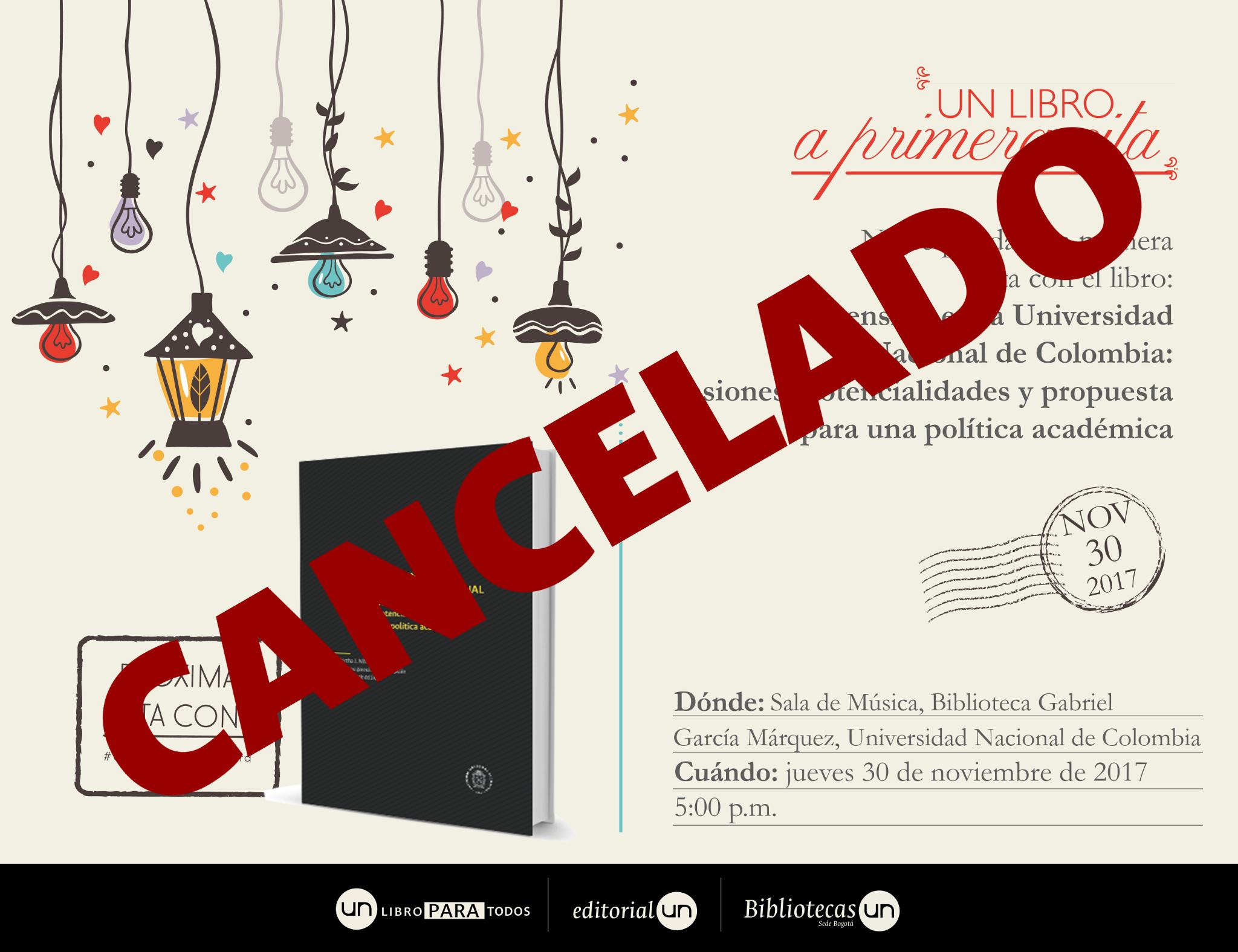 #UNlibroaprimeracita 'La extensión en la Universidad Nacional de Colombia: tensiones, potencialidades y propuesta para una política académica'