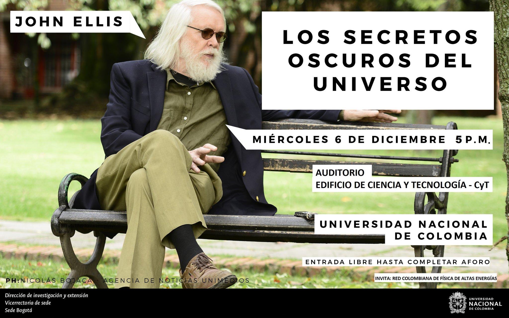 Conferencia «Los secretos oscuros del Universo» (Dr. John Ellis)