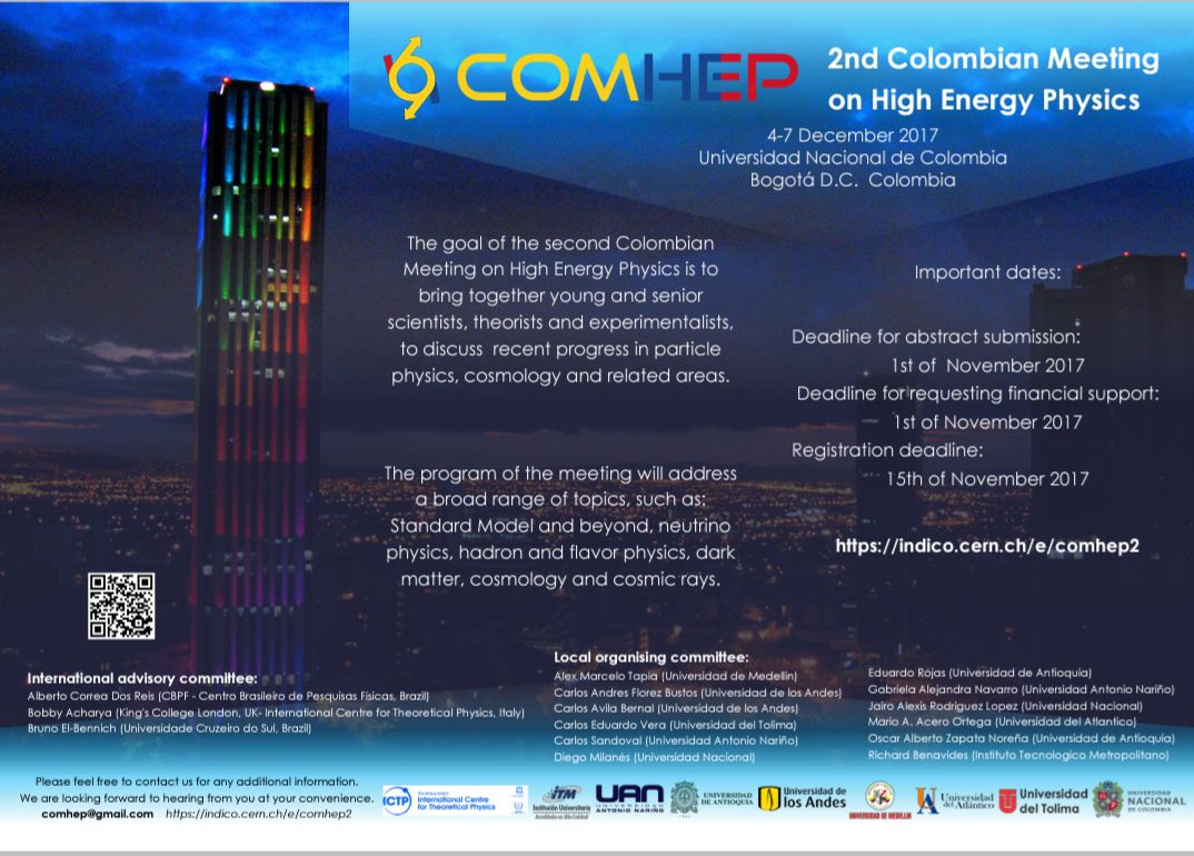 2nd. Colombian Meeting on High Energy Physics (COMHEP 2017)