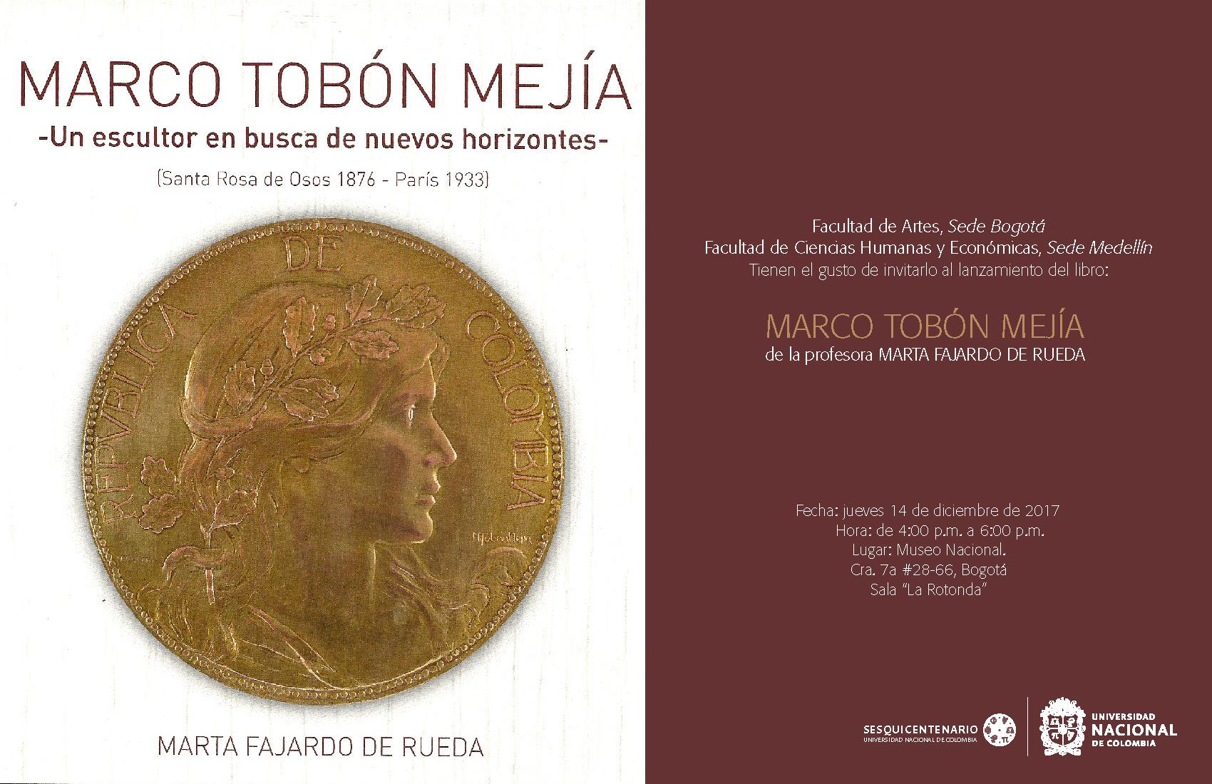 Lanzamiento del libro 'Marco Tobón Mejía. Un escultor en busca de nuevos horizontes' (Marta Fajardo de Rueda)