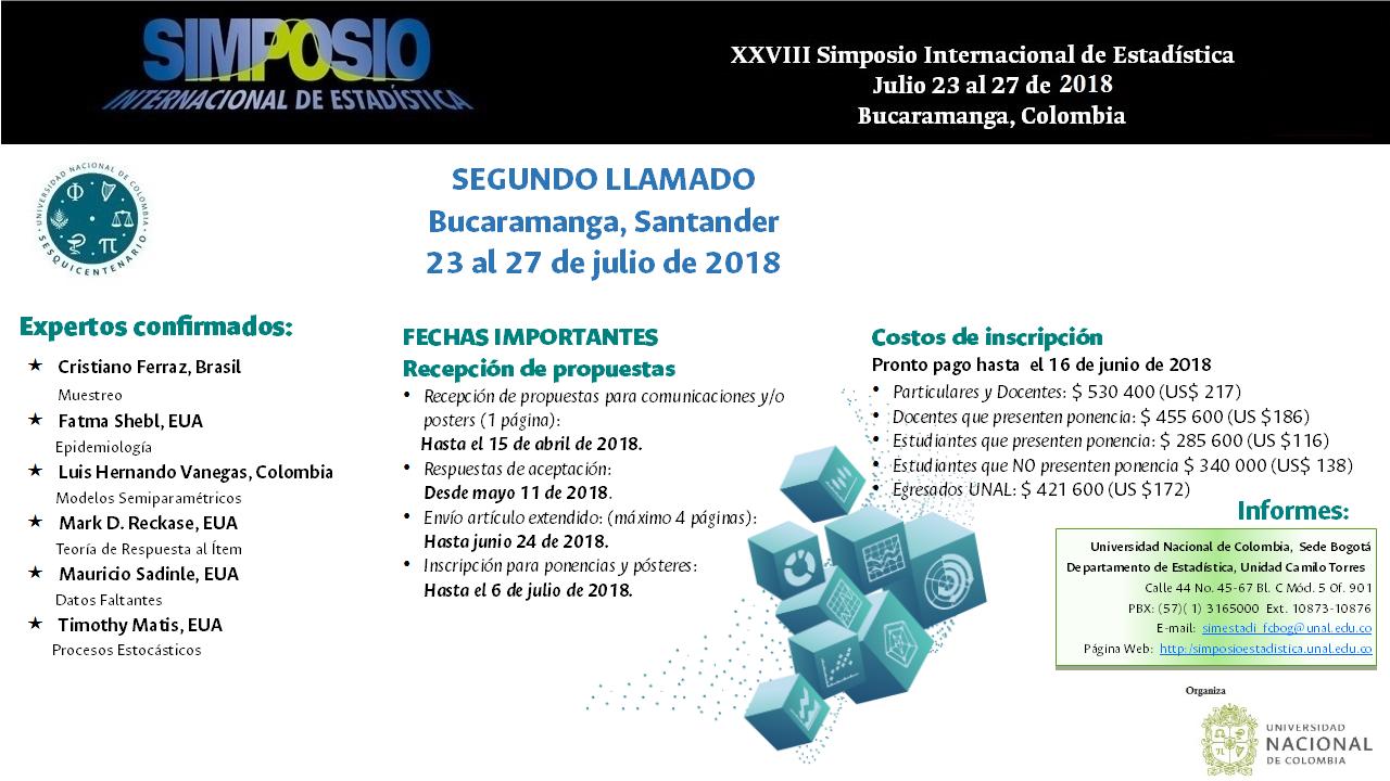 XXVIII Simposio Internacional de Estadística