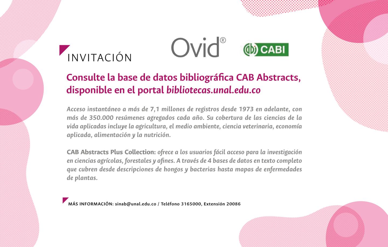 Novedades recursos electrónicos: acceda a CAB Abstracts