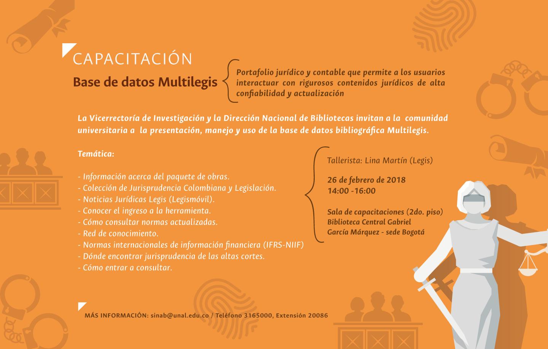 Capacitación base de datos Multilegis (febrero 2018)