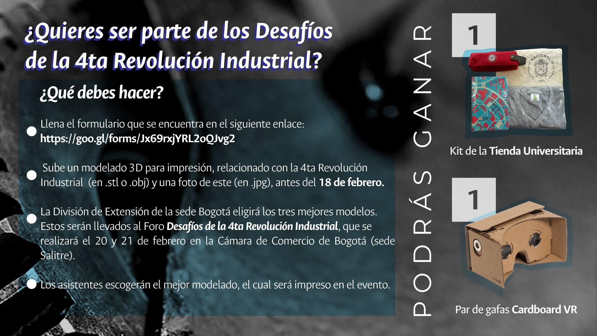 Concurso «Desafíos de la Cuarta Revolución Industrial»