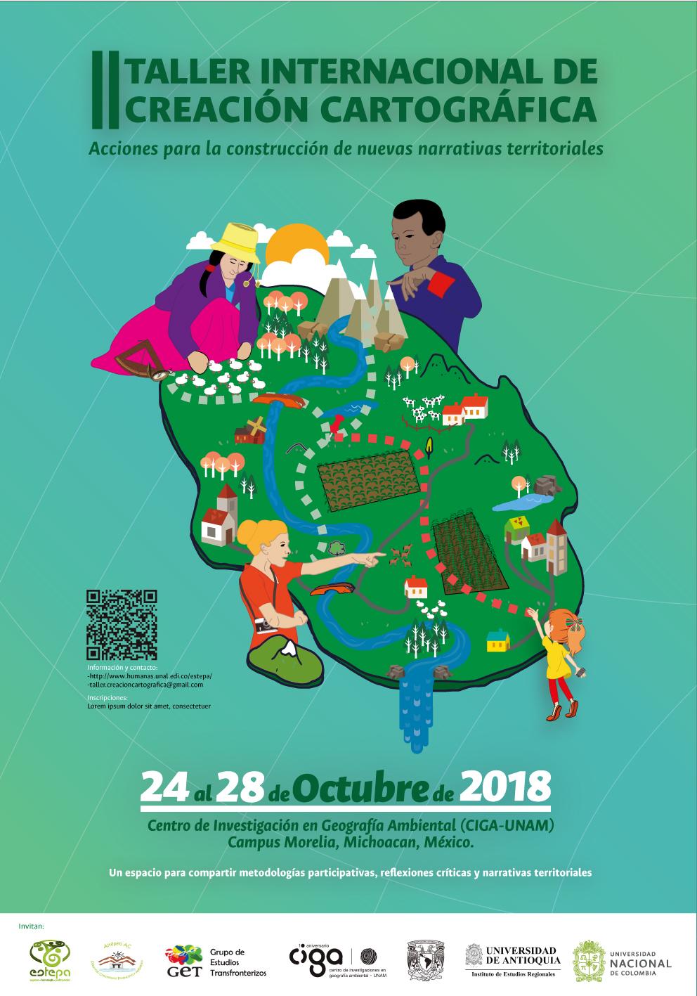 Segundo taller internacional de creación cartográfica: acciones para la construcción de nuevas narrativas territoriales