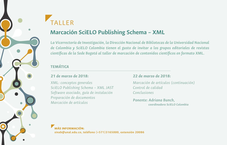 Taller de Marcación SciELO Publishing Schema – XML