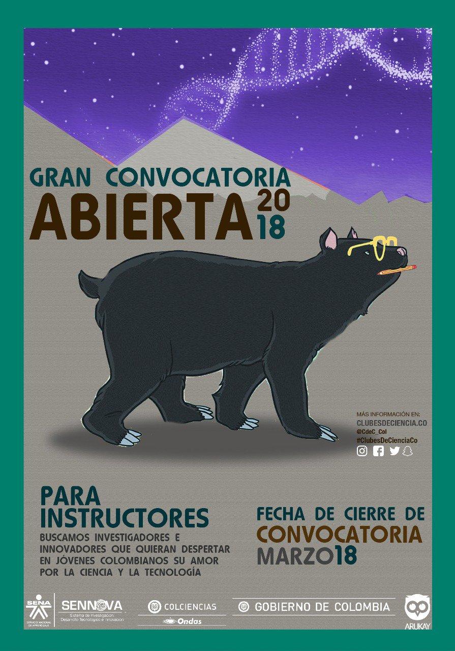 Convocatoria instructores y coinstructores Clubes de Ciencia Colombia 2018