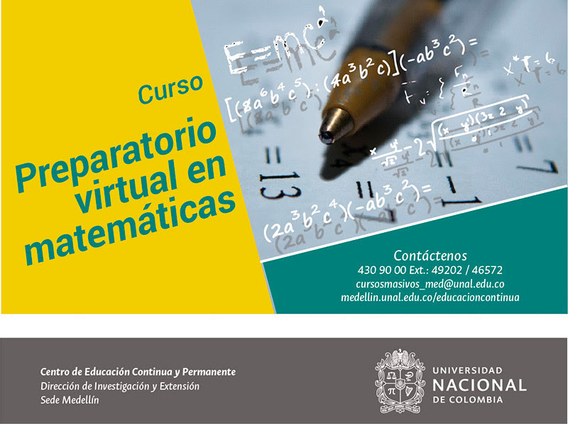 Curso preparatorio virtual en Matemáticas (2018-I)
