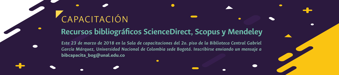 Invitación capacitación en recursos bibliográficos                 ScienceDirect, Scopus y Mendeley (marzo 2018)