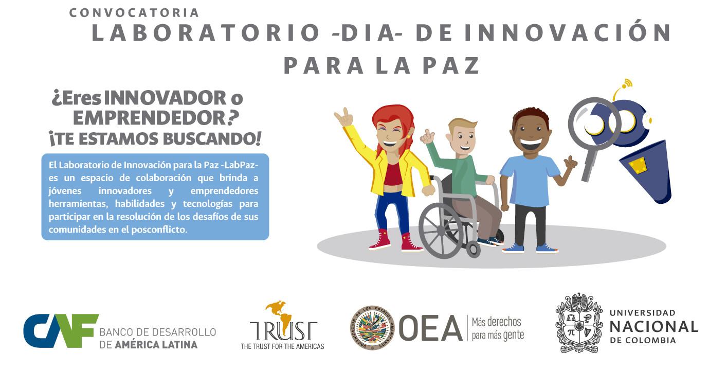 Convocatoria para participar en el Laboratorio de               Innovación para la Paz en Bogotá
