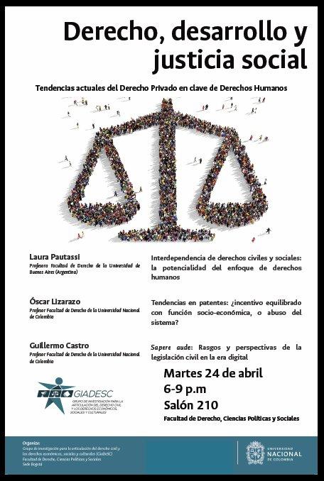 Evento «Derecho, desarrollo y justicia social: tendencias actuales del Derecho Privado en clave de derechos humanos»