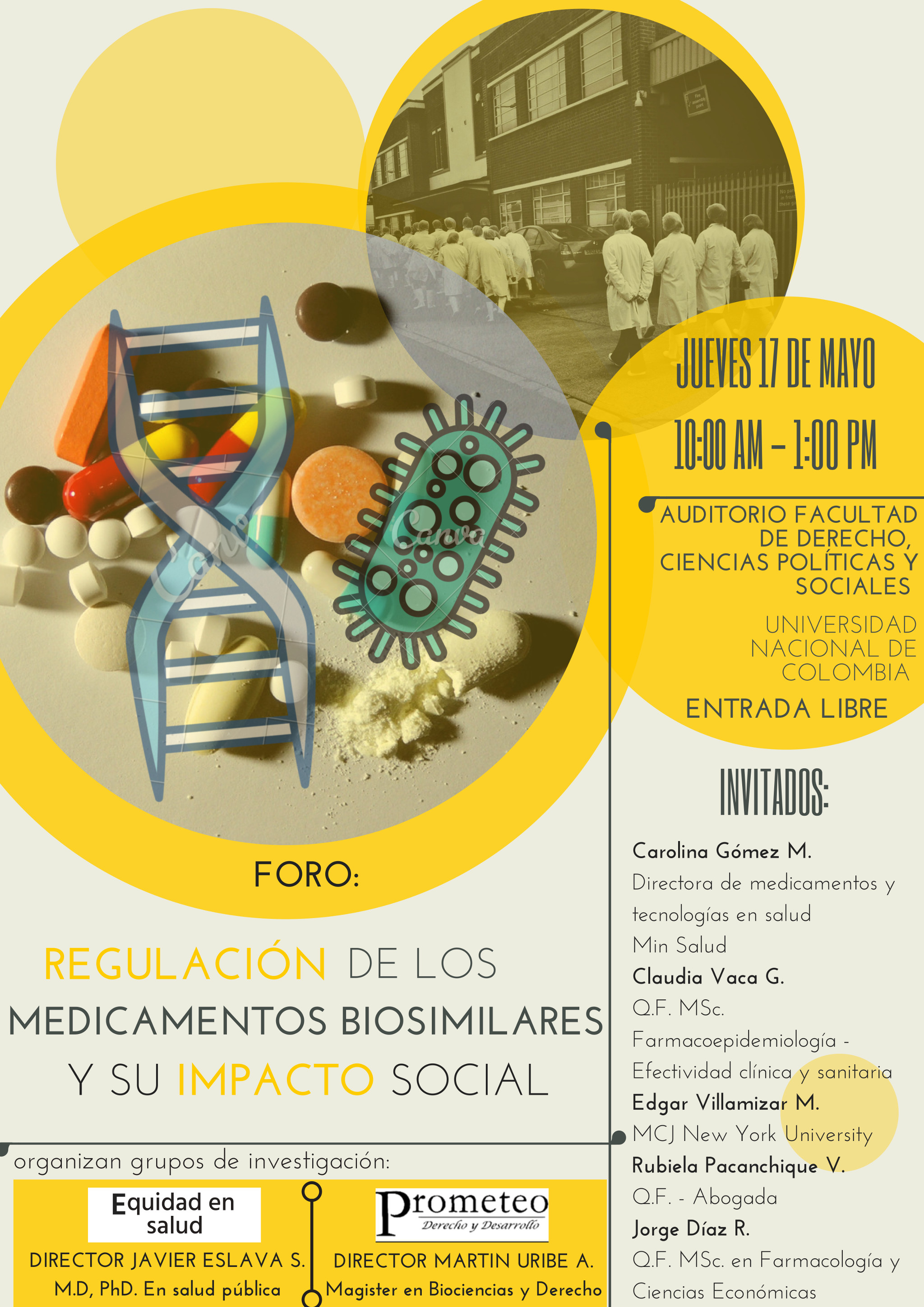 Foro «Regulación de los medicamentos biosimilares y su impacto social»