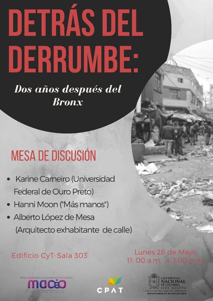 Mesa de discusión «Detrás del derrumbe: dos años después del Bronx»