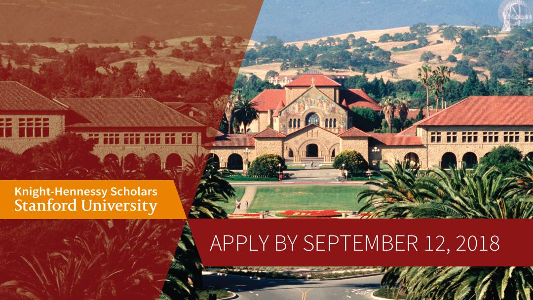 Knight-Hennessy Scholarship, Fall 2018 (Stanford University)