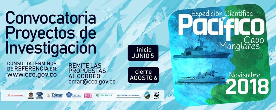 Convocatoria de Proyectos de Investigación para la Expedición Científica Pacífico 2018, Cabo Manglares