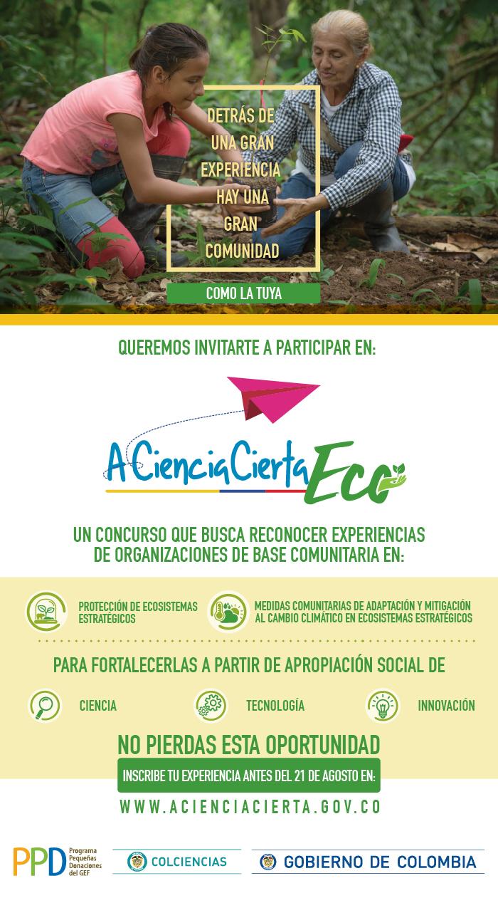Convocatoria «A Ciencia Cierta Eco» de Colciencias