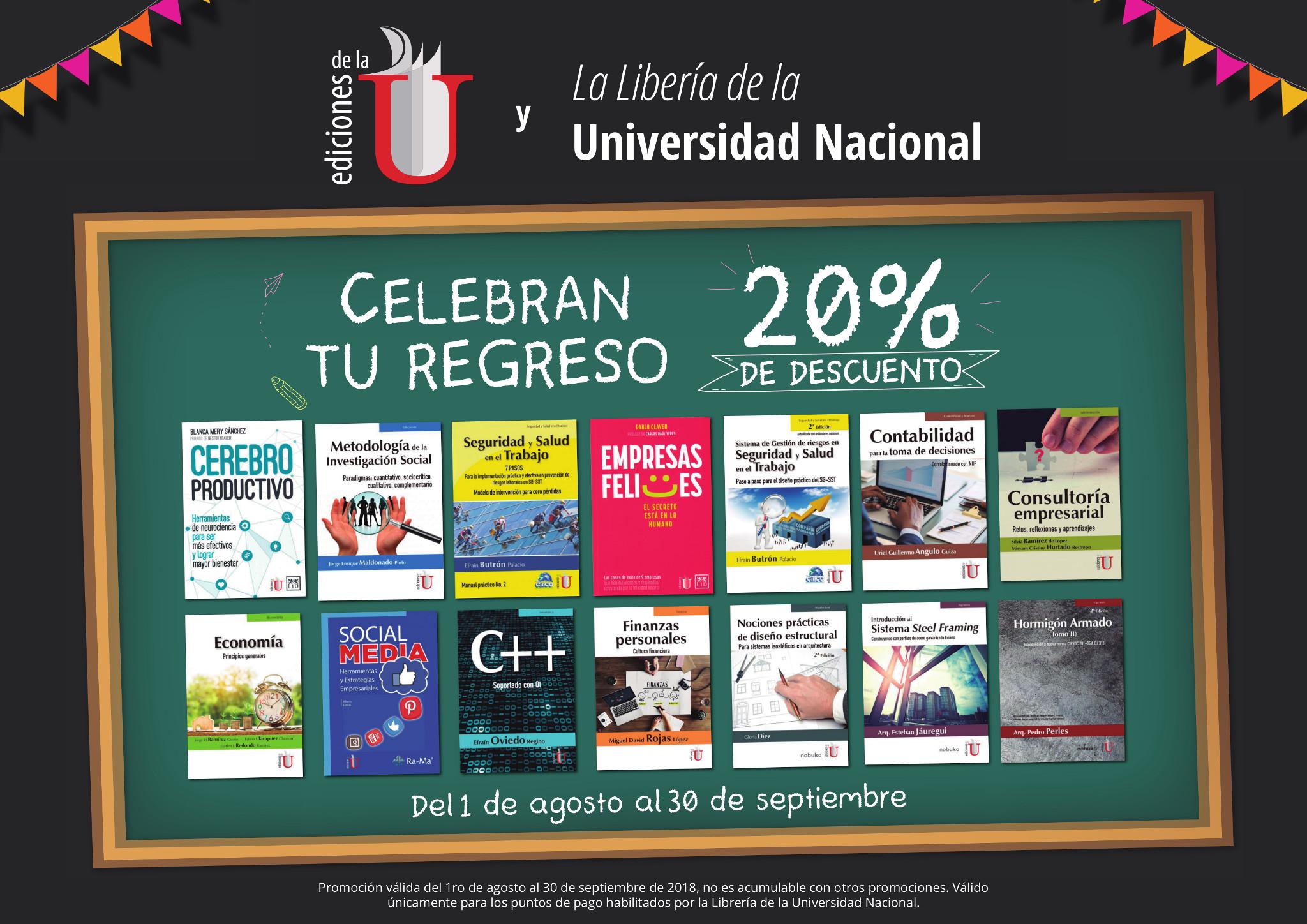 Regreso a clases con Librería Universidad Nacional de Colombia y Ediciones de la U