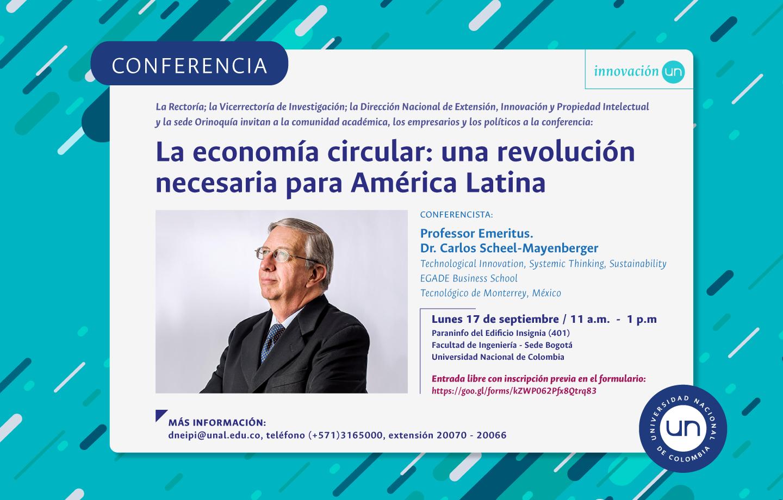 Conferencia «La economía circular: una revolución necesaria para América Latina»