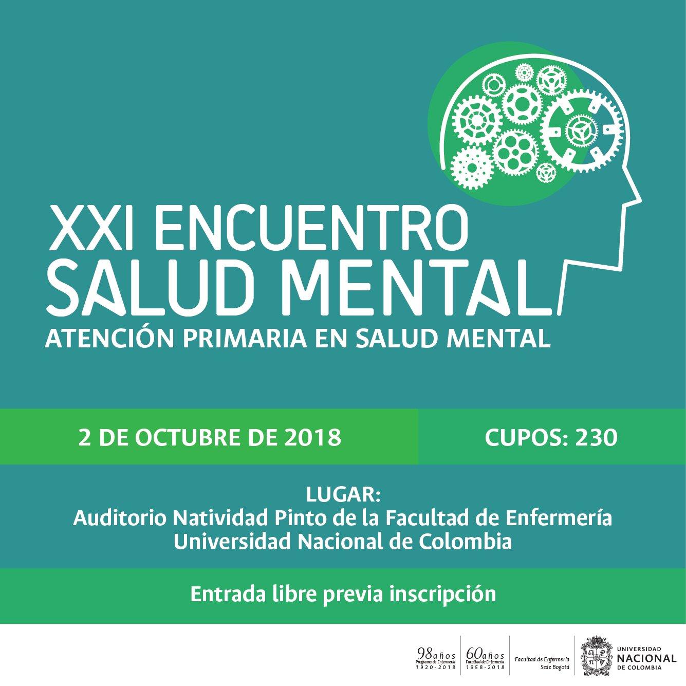 XXI Encuentro de Salud Mental - Atención primaria en salud mental