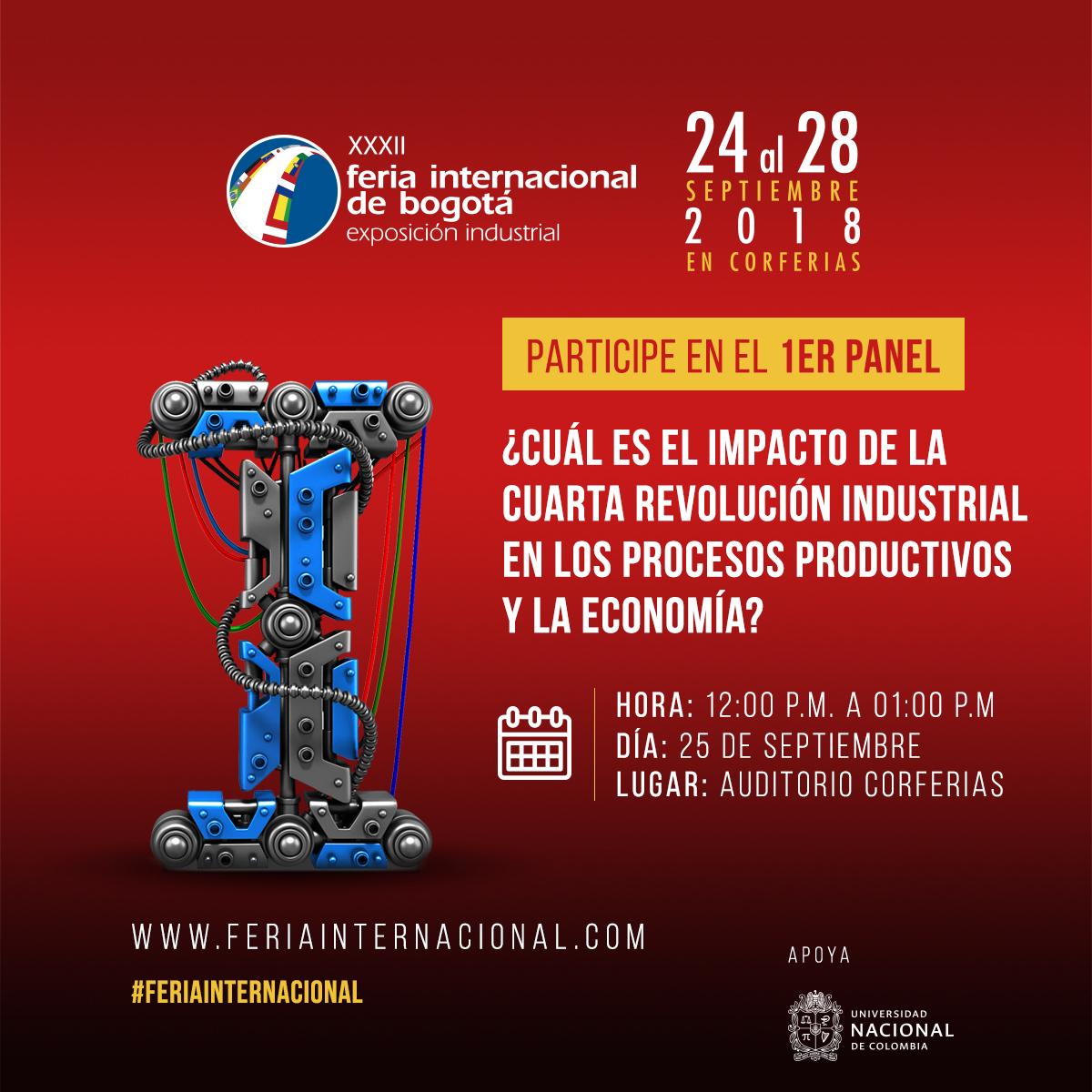 1er. panel: «¿Cuál es el impacto de la cuarta revolución industrial en los procesos productivos y en la economía?»