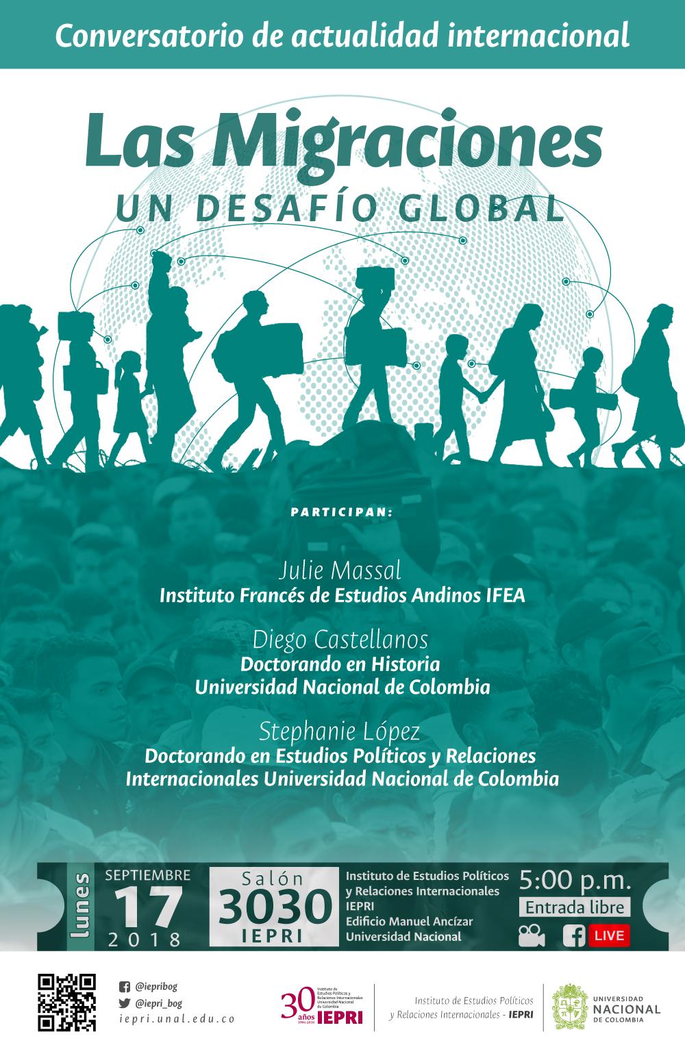 Conversatorio de actualidad internacional «Las migraciones, un desafío global»
