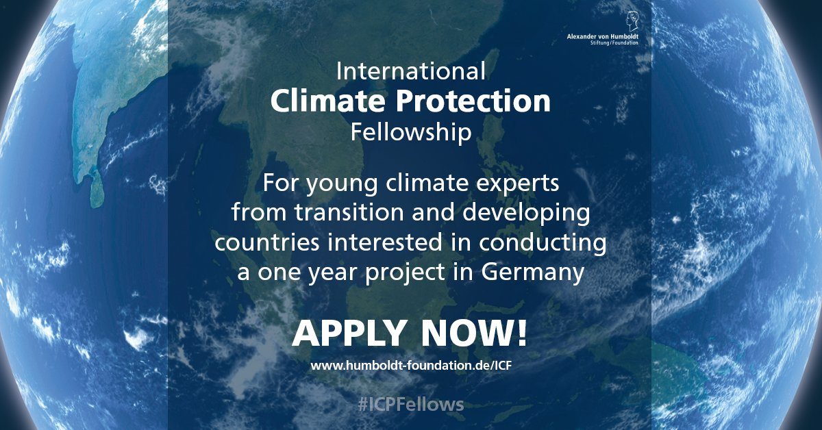 International Climate Protection Fellowship for young climate experts from developing countries