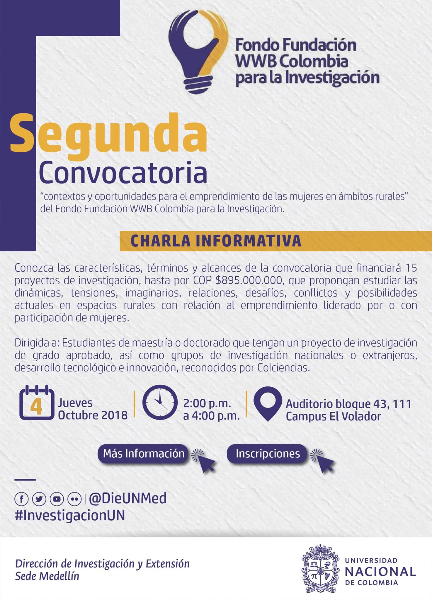 Charla informativa sobre la 2a. Convocatoria del Fondo Fundación WWB Colombia «Contextos para el emprendimiento de las mujeres en ámbitos rurales»