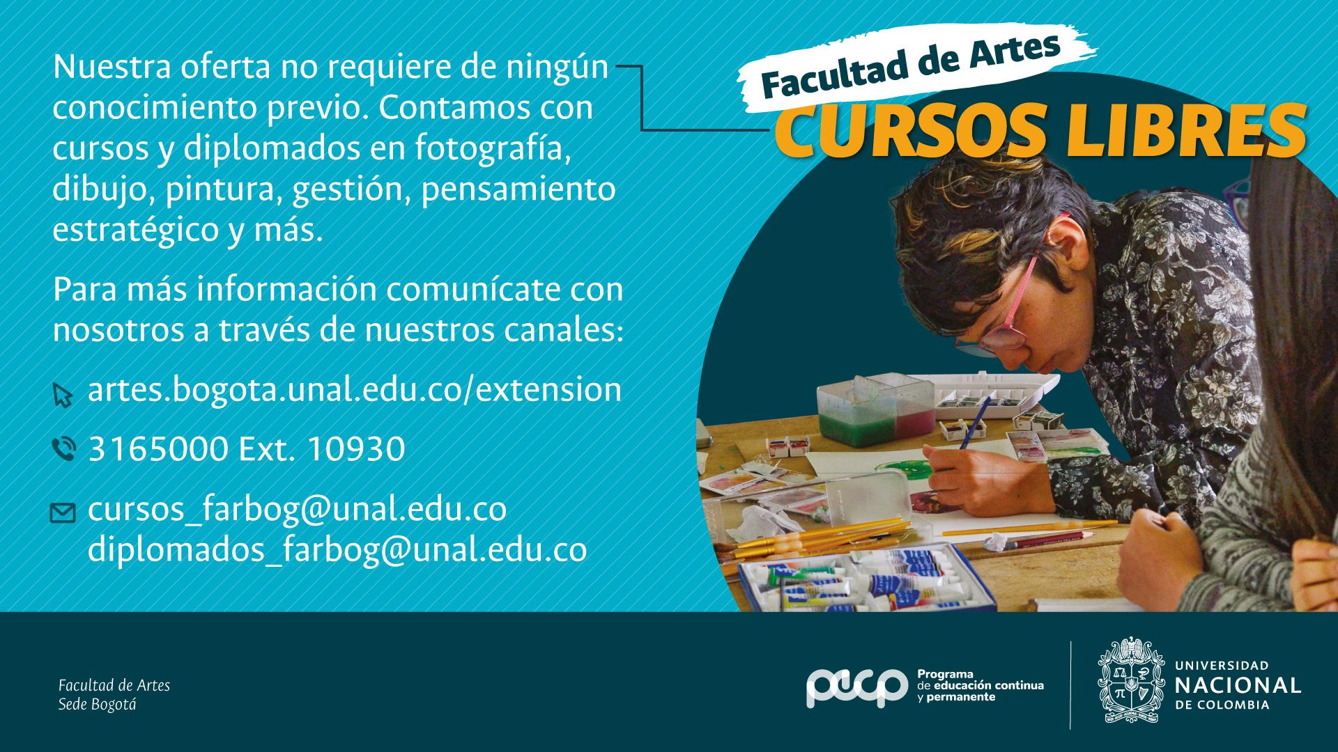 Últimos cupos para la oferta de cursos 2018 de Artes