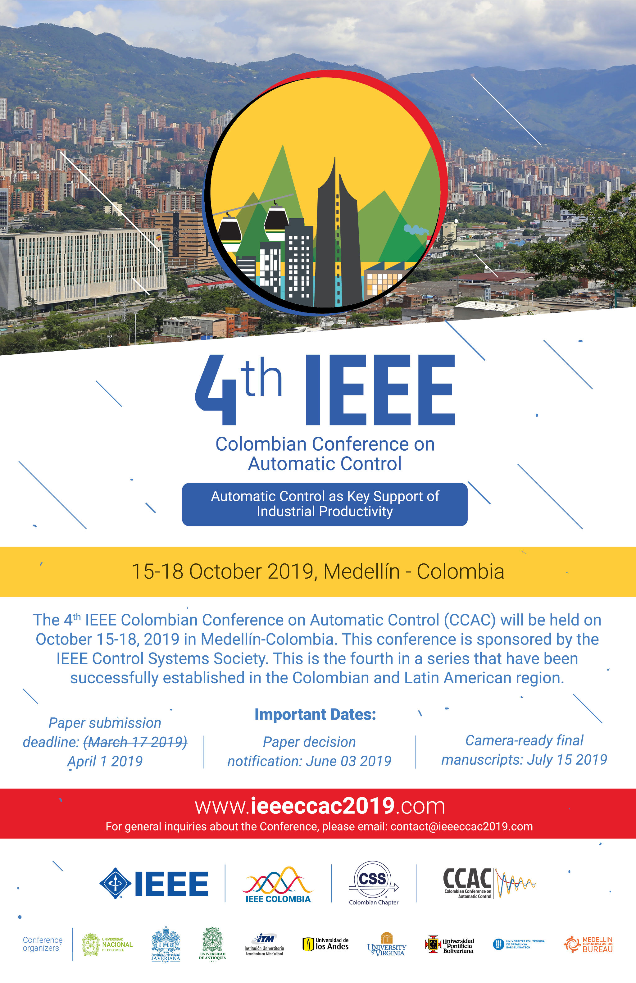 4th IEEE Colombian Conference on Automatic Control