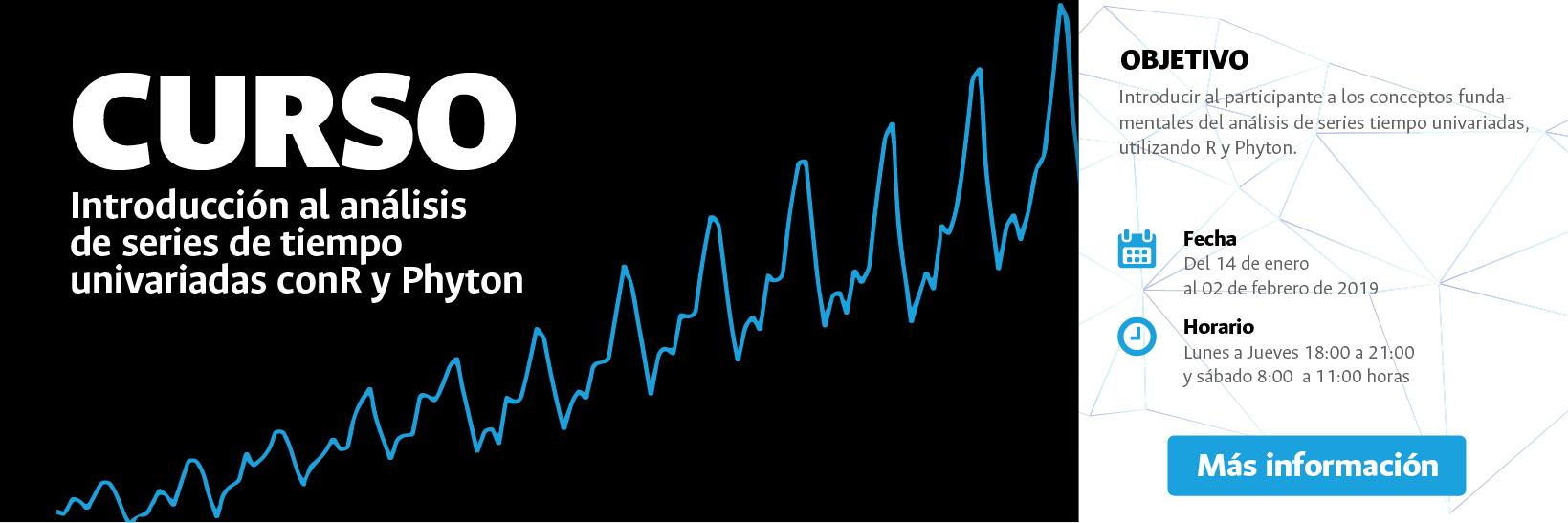 Curso «Análisis de series de tiempo univariadas R y Python» (enero 2019)