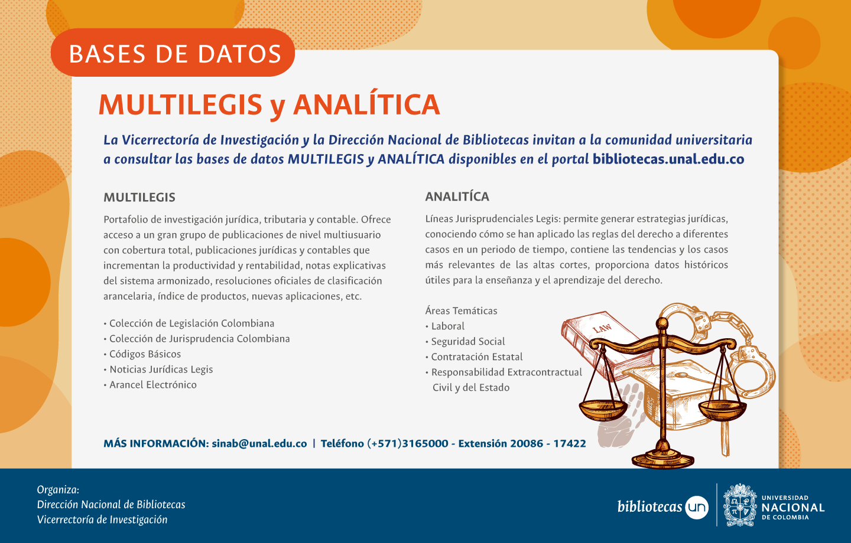 Novedades recursos electrónicos: Multilegis y Analítica