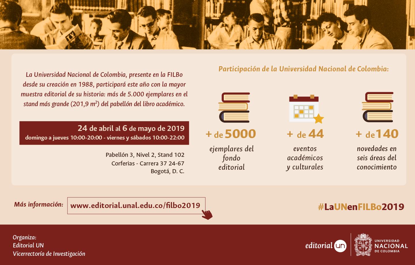 Boletín SIUN Especial 1-2019: #LaUNenlaFILBo2019
