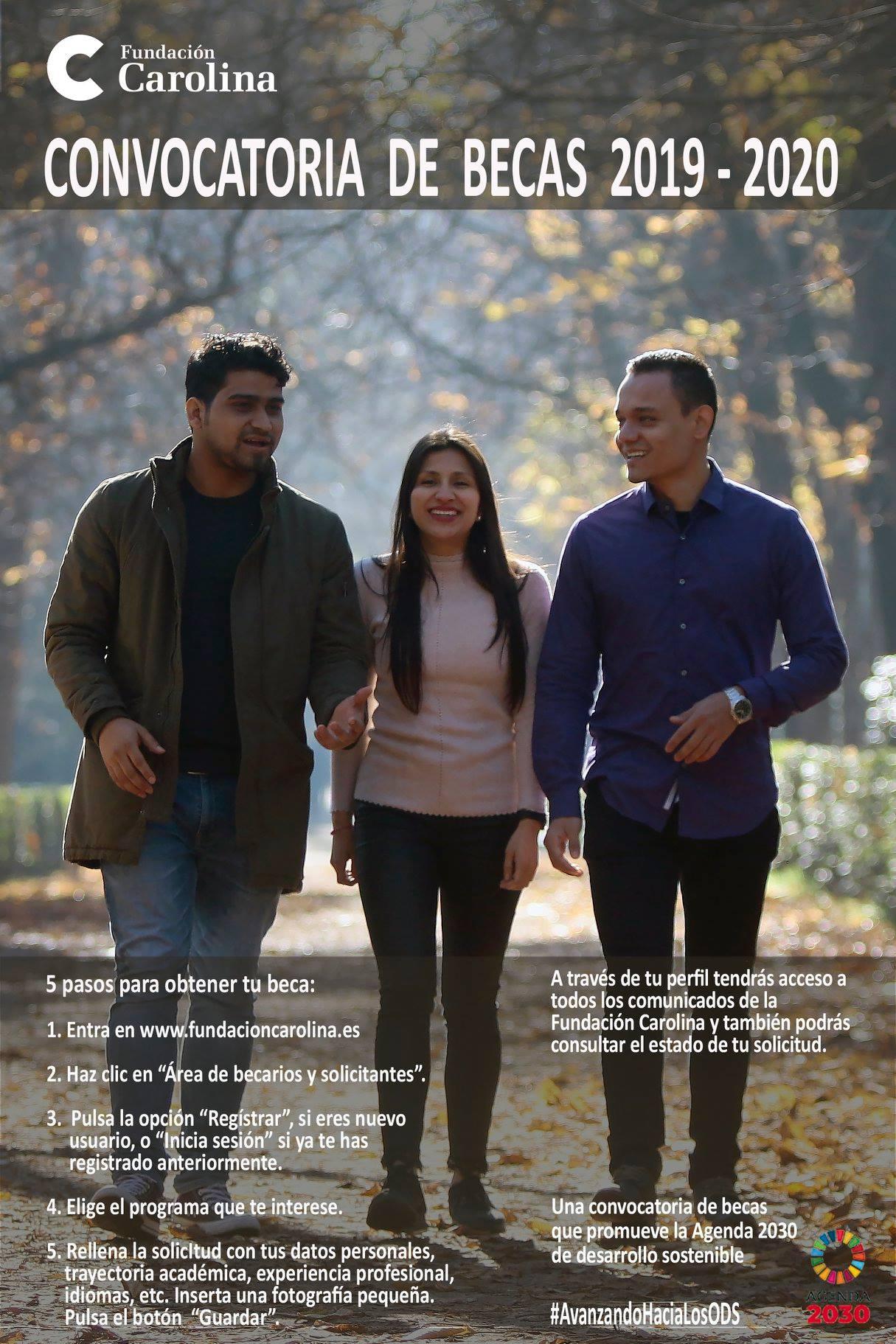 Convocatoria de Becas de la Fundación Carolina 2019-2020