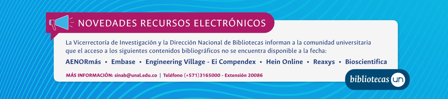 Bases de datos no disponibles