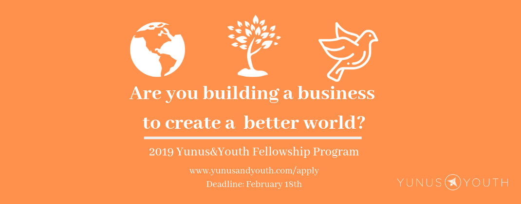 Global Fellowship Program for Social Entrepreneurs 2019 (Yunus & Youth)
